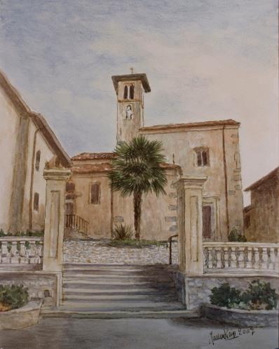 Chiesa del S. Crocifisso - Bodio-Lomnago (VA) - Acquarello - Mauro Nicora