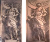 Cristoforo Colombo cartone preparatorio - a sinistra L. Pogliaghi, a destra M. Nicora