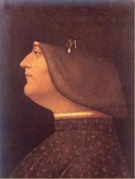 Giovanni Antonio Boltraffio, Ritratto di Ludovico il Moro (Milano, raccolta privata)