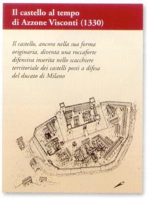 Castello di Vigevano anno 1330  (disegno di Mario Castellani)