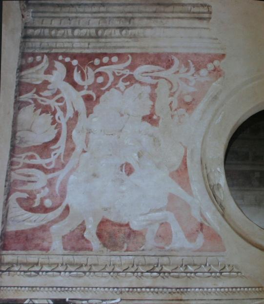 Porzione del fregio originale ritrovato