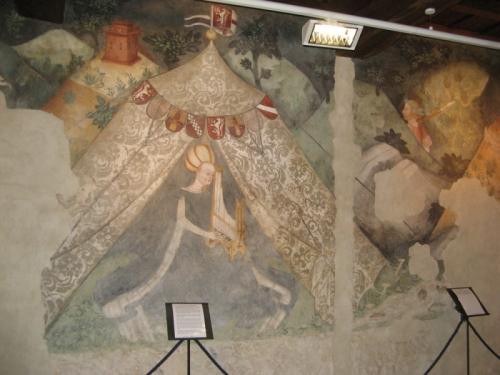 Castello di Masnago, Varese, affreschi quattrocenteschi
