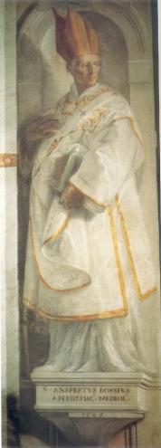 Chiesa Parrocchiale di Azzate (VA), Cappella del Crocifisso, S. Ansperto, Isidoro Bianchi, 1646