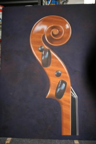 Riccio di violino - Mauro Nicora - acrilico su tavola - 2006