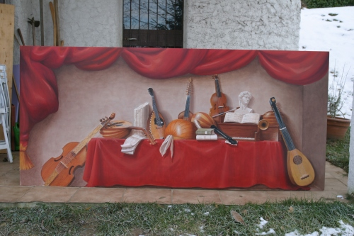 Natura morta - Mauro Nicora - acrilico su tavola - 2006