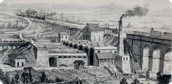 La produzione dei leganti idraulici iniziò in Italia nel 1856 a Palazzolo sull'Oglio, in uno stabilimento per la produzione della calce idraulica.