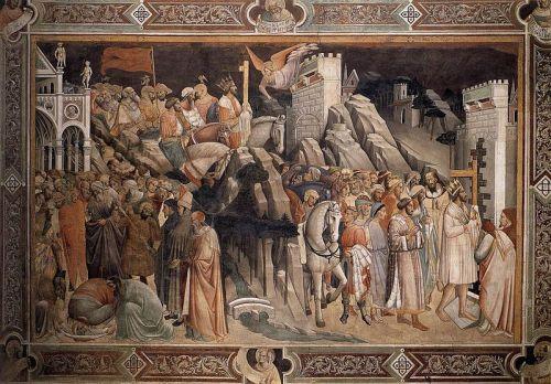 Agnolo Gaddi · Leggenda della Vera Croce · 1380-90 · Cappella Maggiore di Santa Croce · Firenze