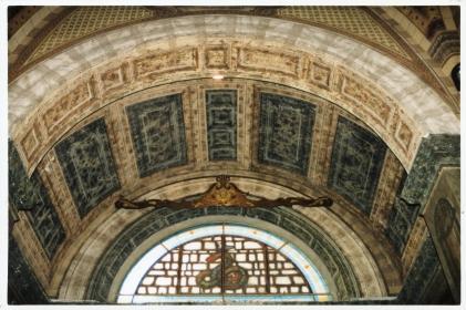 Particolare delle decorazioni della chiesa di Santa Maria Nascente ad Azzate