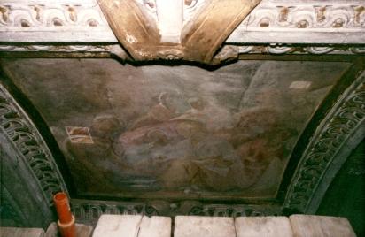 Cappella della Madonna. Natività di Maria (Isidoro Bianchi 1646). Prima dei restauri.