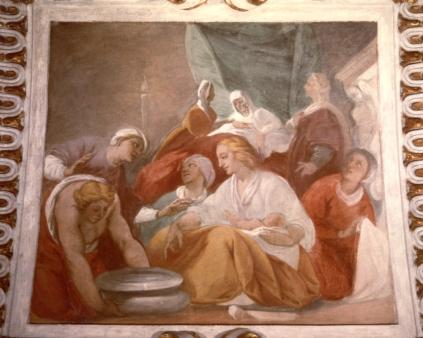 Cappella della Madonna. Natività di Maria (Isidoro Bianchi 1646). Dopo i restauri.