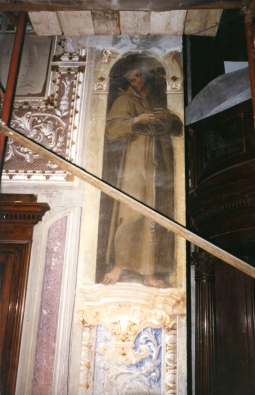 Cappella della Madonna.  (Isidoro Bianchi 1646). San Francesco prima dei restauri.