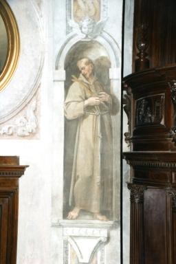 Cappella della Madonna.  (Isidoro Bianchi 1646). San Francesco dopo i restauri.
