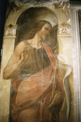 Cappella della Madonna.  (Isidoro Bianchi 1646). San Giovanni Battista  prima dei restauri.