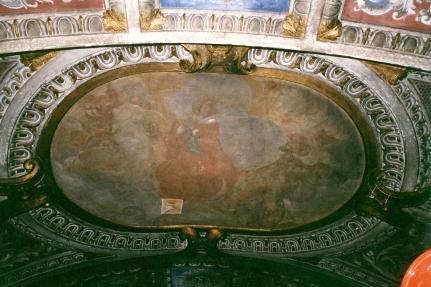 Cappella della Madonna.  (Isidoro Bianchi 1646). Volta. Assunzione di Maria. prima dei restauri.