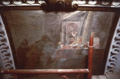 Cappella della Madonna.  (Isidoro Bianchi 1646) Presentazione di Maria al Tempio prima dei restauri.