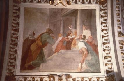 Cappella della Madonna.  (Isidoro Bianchi 1646) Presentazione di Maria al Tempio dopo i  restauri.