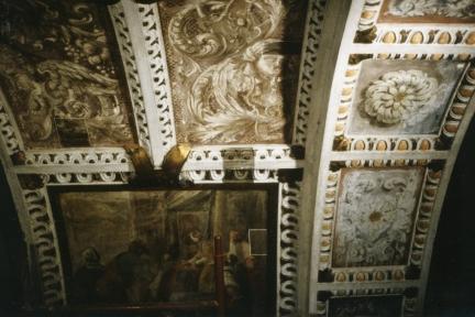 Cappella della Madonna.  (Isidoro Bianchi 1646) Volta durante i  restauri.