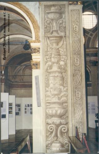 Santa Maria presso San Satiro Milano - Transetto sinistro - Pilastro a candelabra a restauro ultimato
