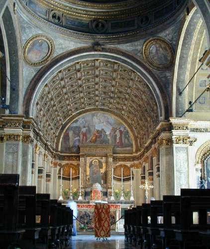 Santa Maria presso San Satiro Milano - Prospettiva bramantesca allo stato attuale