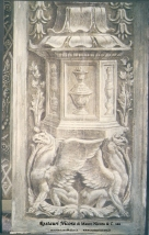 Santa Maria presso San Satiro Milano - Transetto destro - Particolare del pilastro a candelabra a restauro ultimato