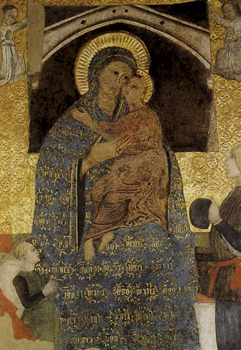 Santa Maria presso San Satiro Milano - Madonna col Bambino, affresco, XIII sec. restaurato nel 1983.