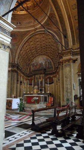 Santa Maria presso San Satiro Milano - Prospettiva bramantesca vista dal transetto destro.