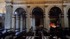 Santa Maria presso San Satiro Milano - Colonnato destro navata centrale - Finte scanalature e superficie muraria restaurate da noi