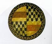 Le rotelle milanesi bottino della battaglia di Giornico - 1478 - Scudo con l'ondato sforzesco