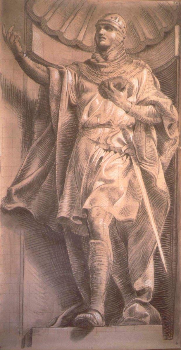 """Affresco cap. XI – Giorgio Vasari """"De gli schizzi, disegni, cartoni et ordine di prospective; e per quel che si fanno, et a quello che i pittori se ne servono"""""""