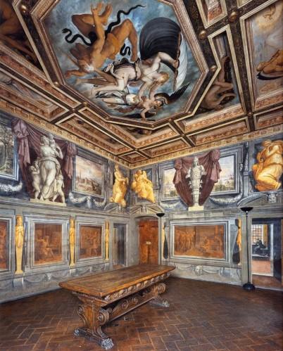 Casa del Vasari, Arezzo, Italia, Sala del trionfo delle virtù, 1548