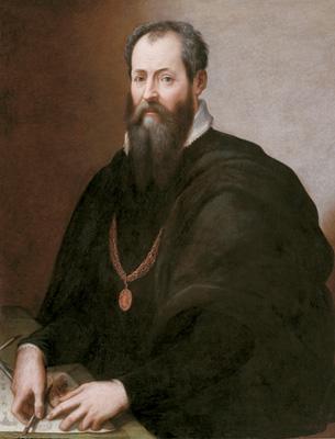 Giorgio Vasari, autoritratto, olio su tela, Galleria degli Uffizi Firenze