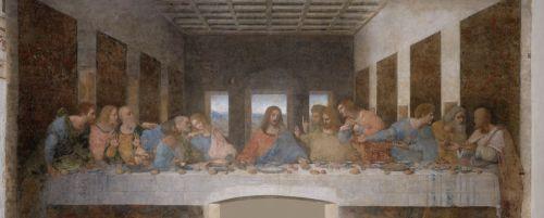 Leonardo da Vinci - Ultima Cena -Santa Maria delle Grazie, Milano, come si presenta oggi