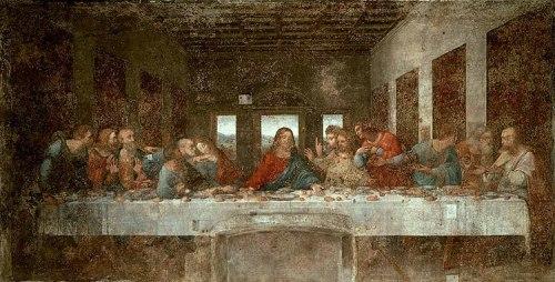 Leonardo da Vinci - Ultima Cena -Santa Maria delle Grazie, Milano, prima dei restauri