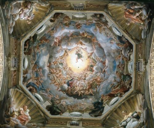 Cupola del Duomo di Parma con l'assunzione al cielo della Vergine, capolavoro di Antonio Allegri detto il Correggio