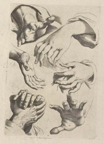 Agostino Carracci, immagine tratta da Scuola perfetta per imparare a disegnare tutto il corpo umano