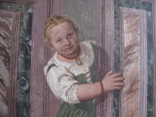 Paolo Veronese, particolare di uno degli affreschi a Villa di Maser
