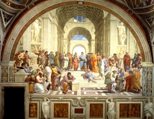 Raffaello Sanzio - Scuola di Atene, Stanza della Segnatura, Musei Vaticani