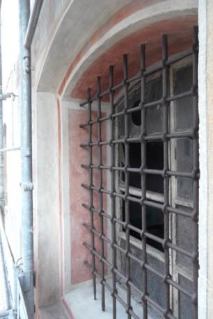 Intradosso finestra piano terra a restauro ultimato