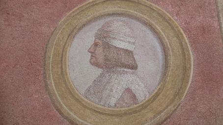 Medaglione con ritratto del Moro alla Sforzesca di Vigevano