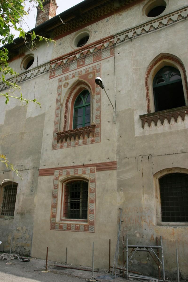 Villa Cascina Sforzesca a Vigevano - RESTAURO PORZIONI DI AFFRESCO E RICOSTRUZIONE DELLA  DECORAZIONE PITTORICA
