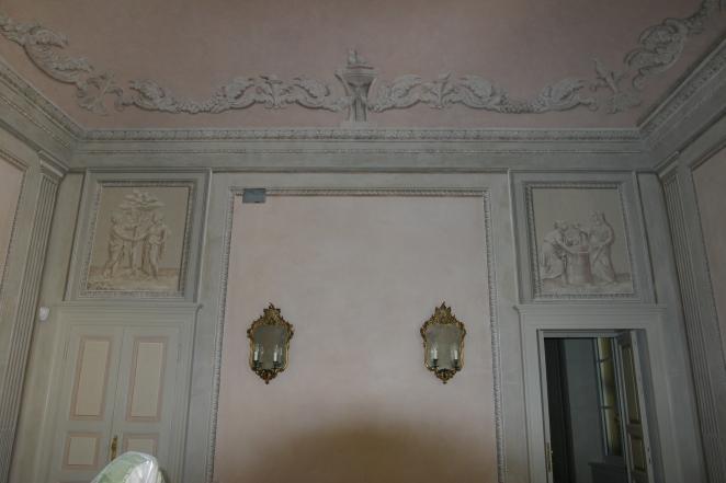 Palazzo Tedaldi D'Ancarano (Piacenza). Una delle stanze, particolare