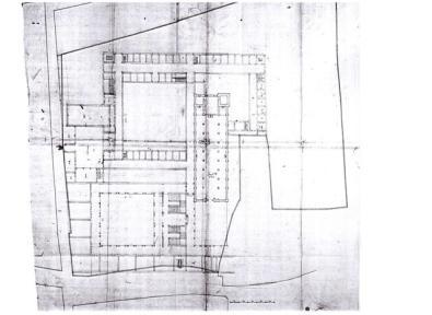 """F.M. Richini, """"Progetto complessivo per il Convento e il Collegio dei Gesuiti"""", prima del 1628, Milano, Biblioteca Trivulziana"""
