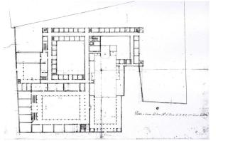 """""""Progetto approvato di sistemazione del pian terreno del Collegio di Brera"""", 1679. Roma, Archivio Gen. Gesuiti"""