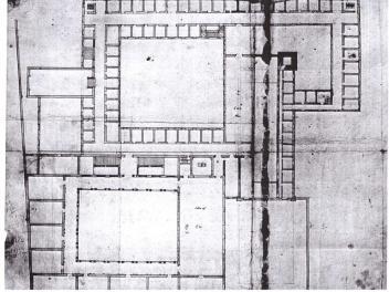 """""""Progetto di sistemazione del primo piano del palazzo Braidense con biblioteca"""", 1675/80. Milano, Biblioteca Trivulziana, Raccolta Bianconi"""