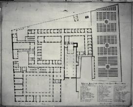 Pianta del piano inferiore del Palazzo di Brera a Milano Piermarini Giuseppe