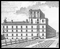 La facciata meridionale del Palazzo di Brera con la specola costruita dal Boscovich, in una stampa pubblicata nel volume delle Ephemerides Astronomicae per l'anno 1778.