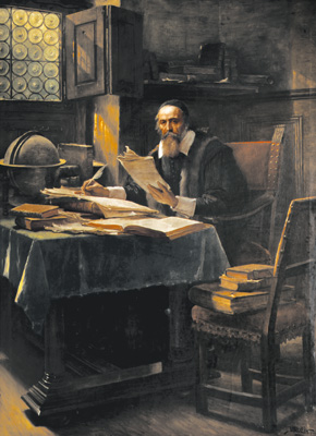 J.A.Komensky, obraz V. Brozika
