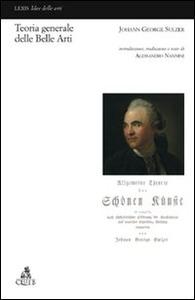 Teoria generale delle belle arti Johann G. Sulzer