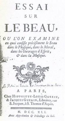 Essai sur le beau by André, Yves Marie,