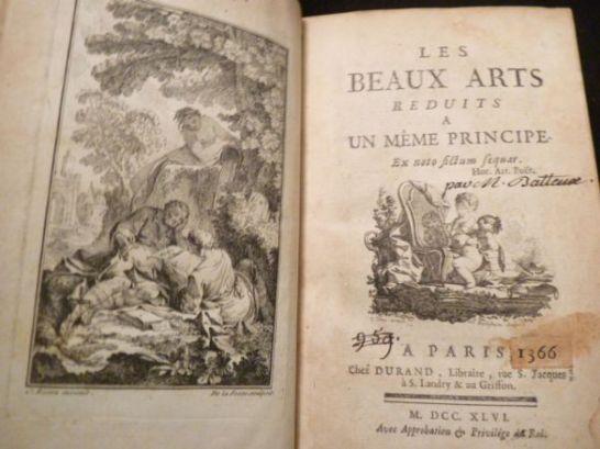 Abbé Charles BATTEUX Les Beaux arts réduits à un même principe Chez Durand, Paris 1746,